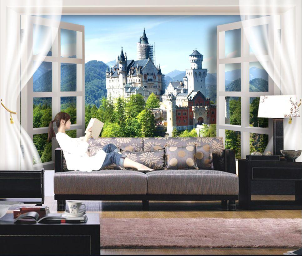 3D Berg Schloss 30494 Fototapeten Wandbild Fototapete BildTapete Familie DE