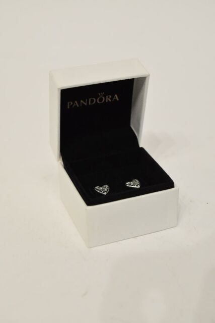 Pandora Heart Of Winter Stud Earrings with Cubic Zirconia Stone