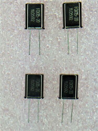 FOX115-20 FOX QUARTZ CRYSTAL RESONATOR 11.0592 MHz 20 pF 10 PCS *FREE SHIPPING*