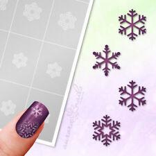 Schablonen Airbrush u Nailart WS9 Winter Weihnacht Schneestern Schneeflocke kleb