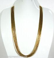 12kt Gold Filled Liquid Gold 20 Strands 24 Southwestern Heishi Necklace