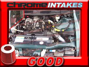 95-97 CHEVY CAMARO PONTIAC FIREBIRD 3.8L V6 FULL COLD AIR INTAKE+K/&N Black Red