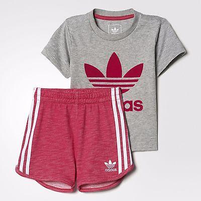 Adidas Originals Infant Girls Trefoil Tank And Shorts Set Children Baby Full Set