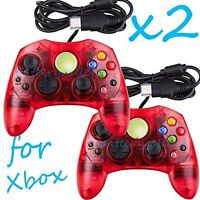 2 Lot Red Controller Control Pad For Original Microsoft Xbox X System 3Z