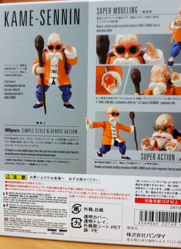 Il Genio delle Tartarughe Kame Sennin Dragon Ball  Bandai SH Figuarts 16cm Nuova