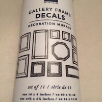 Pottery Barn Teen Gallery Frame Decals Set/8 Read Description