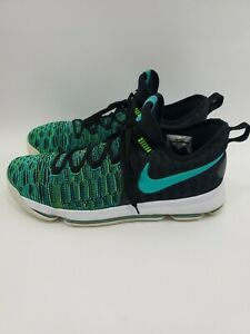Nike-Zoom-KD-9-Birds-of-Paradise-Men-s-Jade-Green-Black-Shoes-843392-300-Size-14