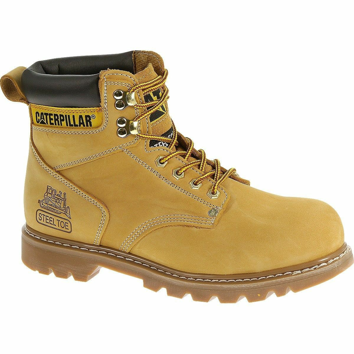 Caterpillar Men's 2nd Shift 6  Plain Steel-Toe Work Boot P89162
