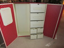 "18"" American Doll Doll Trunk Case 10x16X 5 Closet 7 Drawer Wardrobe Accessories"