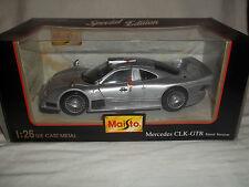 Maisto 31949 Mercedes CLK GTR Street Version  1/26 Silver Mint & Boxed