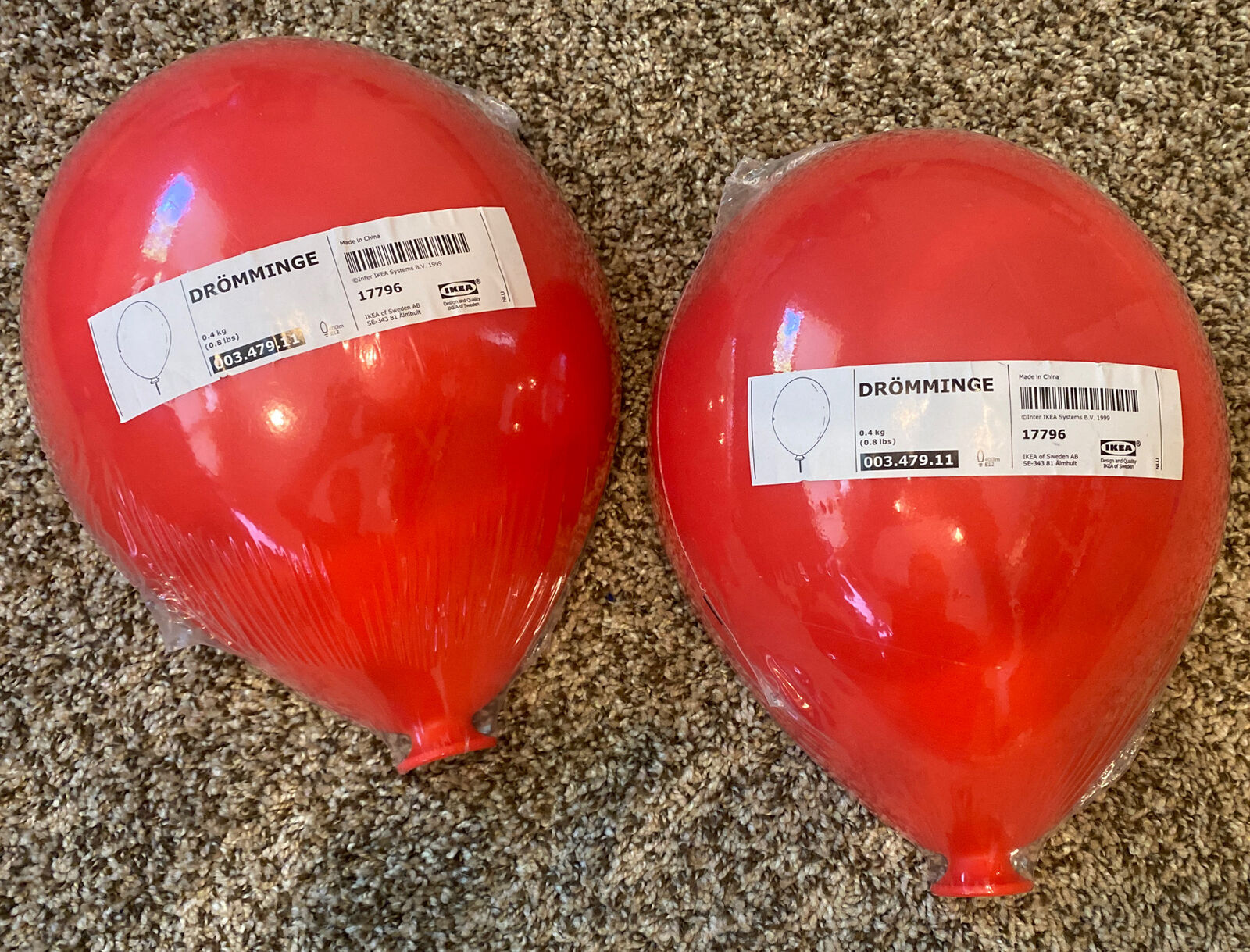 Image of: Ikea Dromminge Red Balloon Wall Lamp For Sale Online Ebay