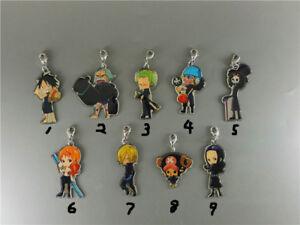 T1069-Anime-One-Piece-Acrylic-Keychain-Key-Ring-Straps-Rare-Schluesselanhaenger