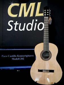 Musikinstrumente Konzertgitarre Paco Castillo 202 SorgfäLtige Berechnung Und Strikte Budgetierung Gitarren & Bässe