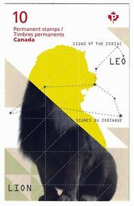 CANADA-BOOKLET-BK-495-Zodiac-Leo-2453