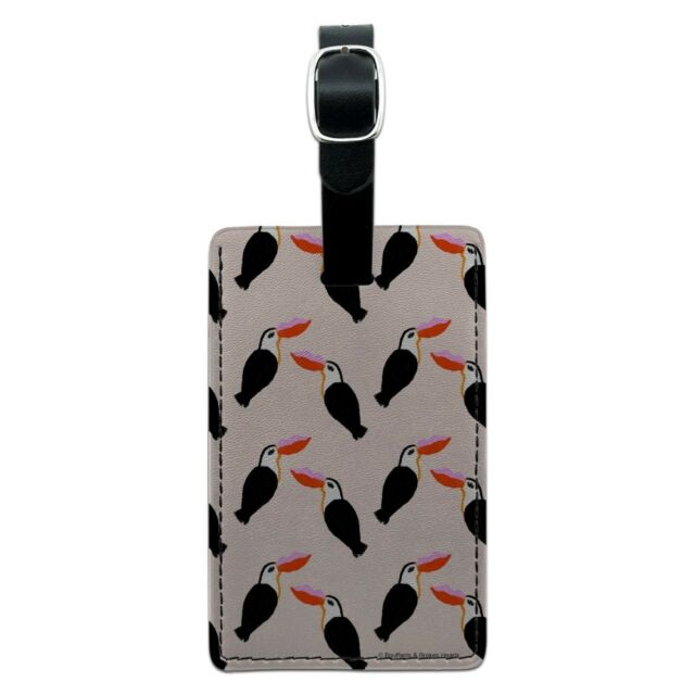 2 Pack Luggage Tags Toucans Baggage Tag For Suitcase Bag Accessories