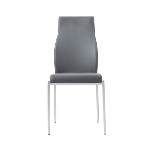 High Back Chair Dining Room, Grey (Pack of 2 chairs)