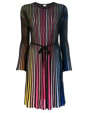 Kenzo Ladies Multicolor Viscos Ribbed Dresss, Brand Size Large
