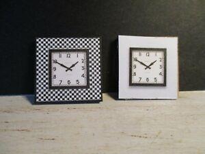 2 Maison De Poupées Miniature Horloges Dnu8-afficher Le Titre D'origine 2019 Nouveau Style De Mode En Ligne