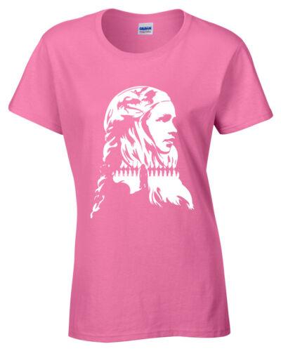 Khaleesi Daenerys Damen T-Shirt Spiel Targaryen Jon Schnee Drachen Mutter