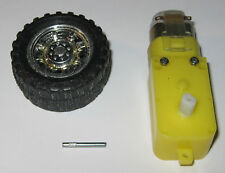 Motorized Toy 3 V Dc Motor Gearhead Wheel Combo 200 Rpm 42mm Dia Wheel