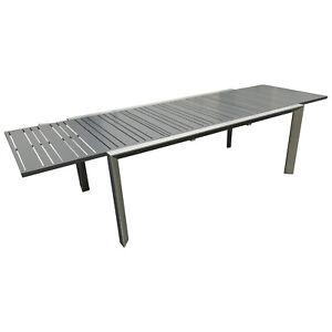 Gartentisch Xxl.Details Zu Gartentisch Ausziehtisch Marciana Aluminium Xxl Ausziehbar 200 Auf 300 Cm Garten