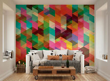 ohpopsi Modern Design Colourful Geometric Triangle Pattern Wall Mural Wall Art