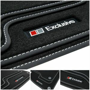 Exclusive-Line-Fussmatten-fuer-Audi-A4-8E-B6-B7-Avant-Kombi-S-Line-Bj-2000-2008