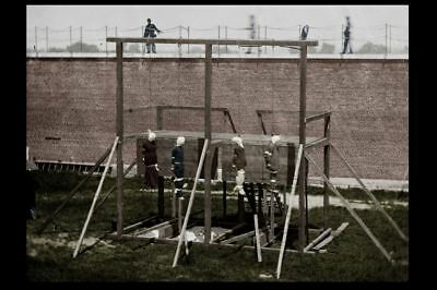 1865 Abraham Lincoln Assassination Gallows Hanging PHOTO Conspirators Demise