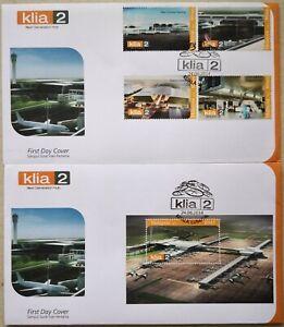Malaysia FDC with Miniature Sheet & Stamps (24.06.2014) - KLIA 2