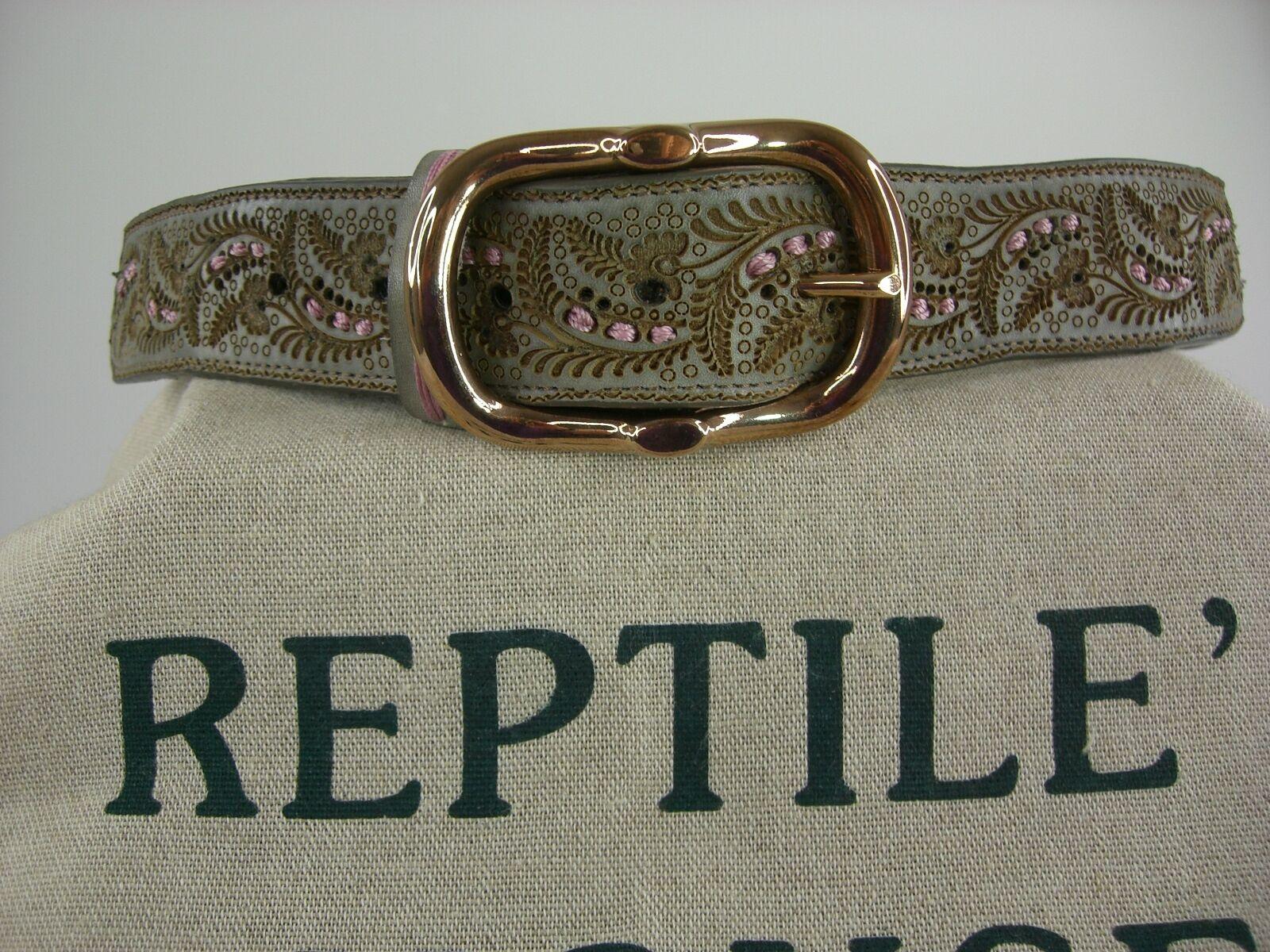 Original Reptile's Reptile's Reptile's HouseGürtelmit Schliesse Sattelleder aufwendige Deco neu    | Discount  dd5263