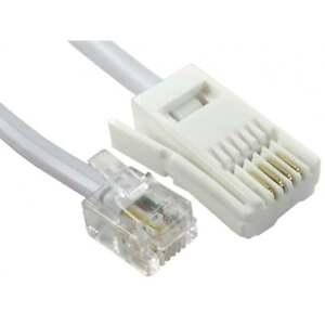 2m Rj11 à Bt Câble Modem Téléphone Plomb Téléphone Prise Bt Socket 4 Pin Droite-afficher Le Titre D'origine Vnnquwzc-07163431-840732028