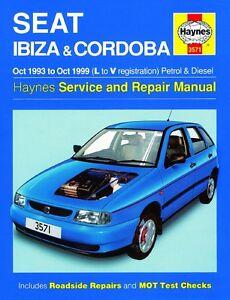 haynes owners workshop manual seat ibiza cordoba 1993 1999 service rh ebay co uk Seat Ibiza 1995 Seat Ibiza 2000 Butuc USA