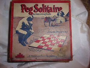 Image Is Loading Vintage Peg Solitaire Pegs Holes Wooden A Sherm