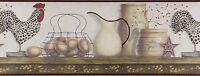 Chesapeake - Rooster & Egg Shelf - Av6719.3 - Premium Wallpaper Border 15ft Roll