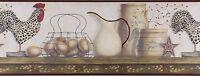 Chesapeake - Rooster & Egg Shelf - Av6719.3 - Premium Wallpaper Border 15ft Roll