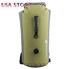 60L Military Waterproof Floating Dry Bag Backpack Drift Canoe Kayak Fishing USA