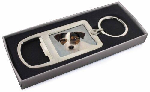 Jack Russell Terrier Dog Chrome Metal Bottle Opener Keyring in Box Gi AD-JR6MBO