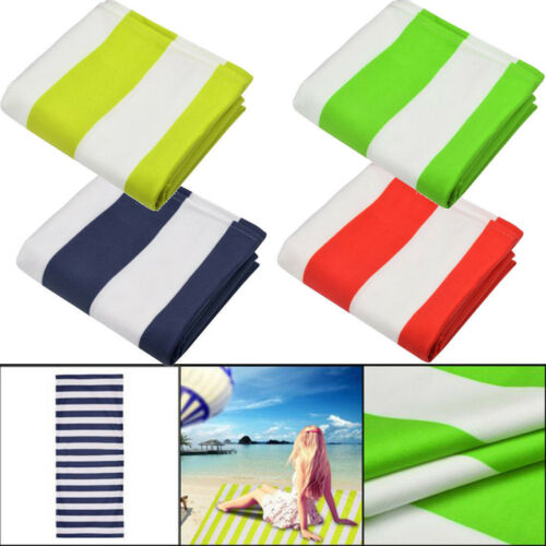 Striped Extra Large Microfibre Lightweight Beach Towel Quick Dry Travel Towel