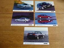 SAAB 9-3 & 9-5 AERO FOR  2000 ORIGINAL  PRESS PHOTOS X5  jm