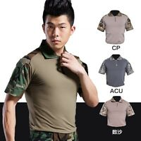 Outdoor Tactical Military Frog Dress Army Resistant Combat Short Sleeve Shirt