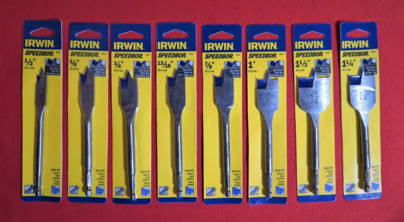"1-1//4/"" X 6/""  Irwin 88820 Speedbor Blue Groove Spade Bit"