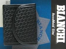 BIANCHI Black 7928 Basketweave ACCUMOLD ELITE Flat Glove Holder Pouch! 22962