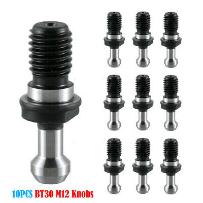 10pcs BT30 45° BT30 Retention Knob M12 Pull Studs Tool Holder CNC Drill For HASS