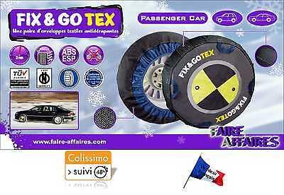 Chaînes Chaussettes à neige FIX&GO XTREM Enveloppes textiles Ski  Pneus XS