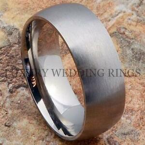 Men S Wedding Band Brushed Titanium Ring Bridal Infinity Love