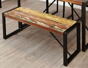 urban chic reclaimed wood furniture dining table two chairs and