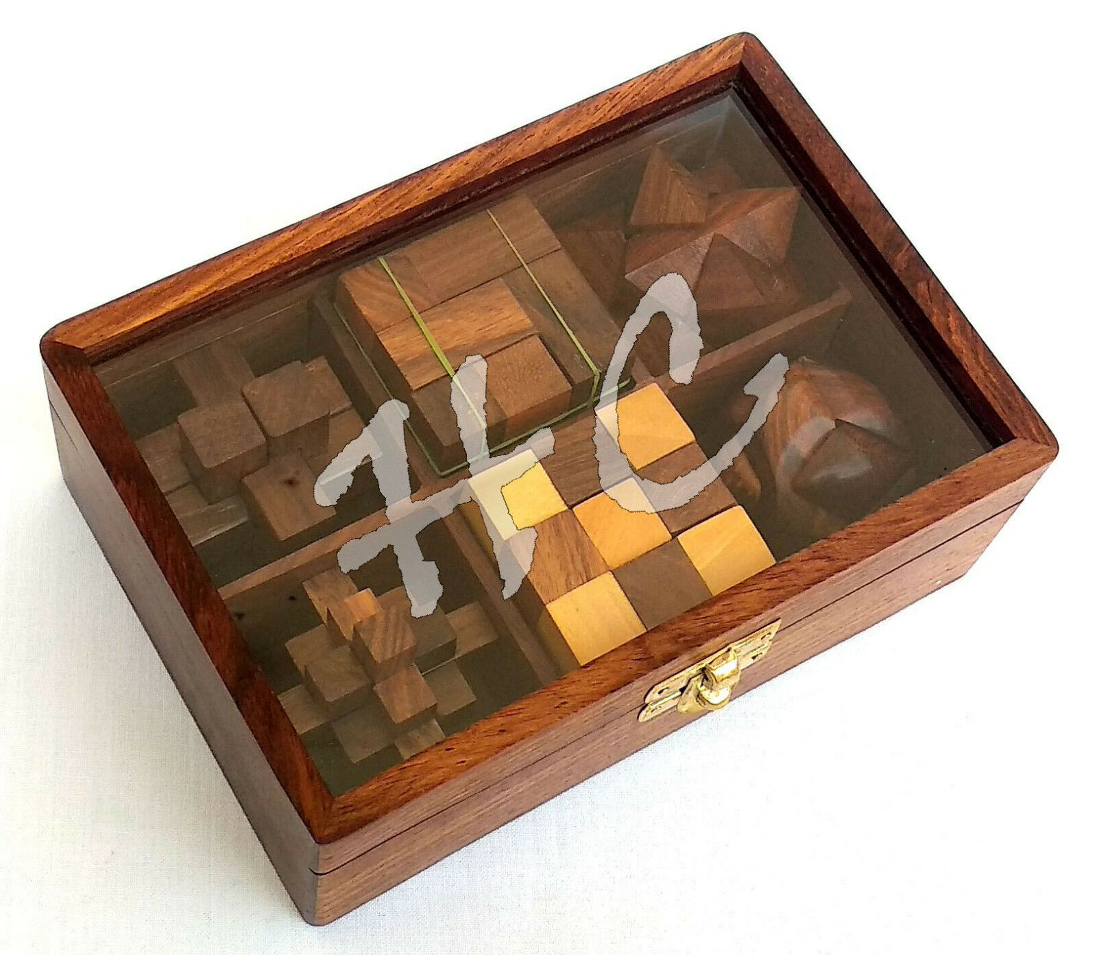 6 en 1 Juegos Monkey Pod Hecho a Mano Juguete Rompecabezas 3D de madera Conjunto de regalo en caja de presentación