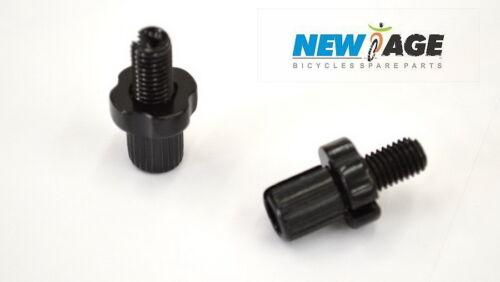 BLACK 2 x pcs Bicycle Bike Brake Cable Adjuster Screws 7mm