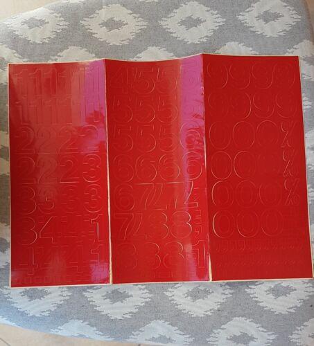 Klebebuchstaben Klebezahlen 30mm rot Edding 0-9