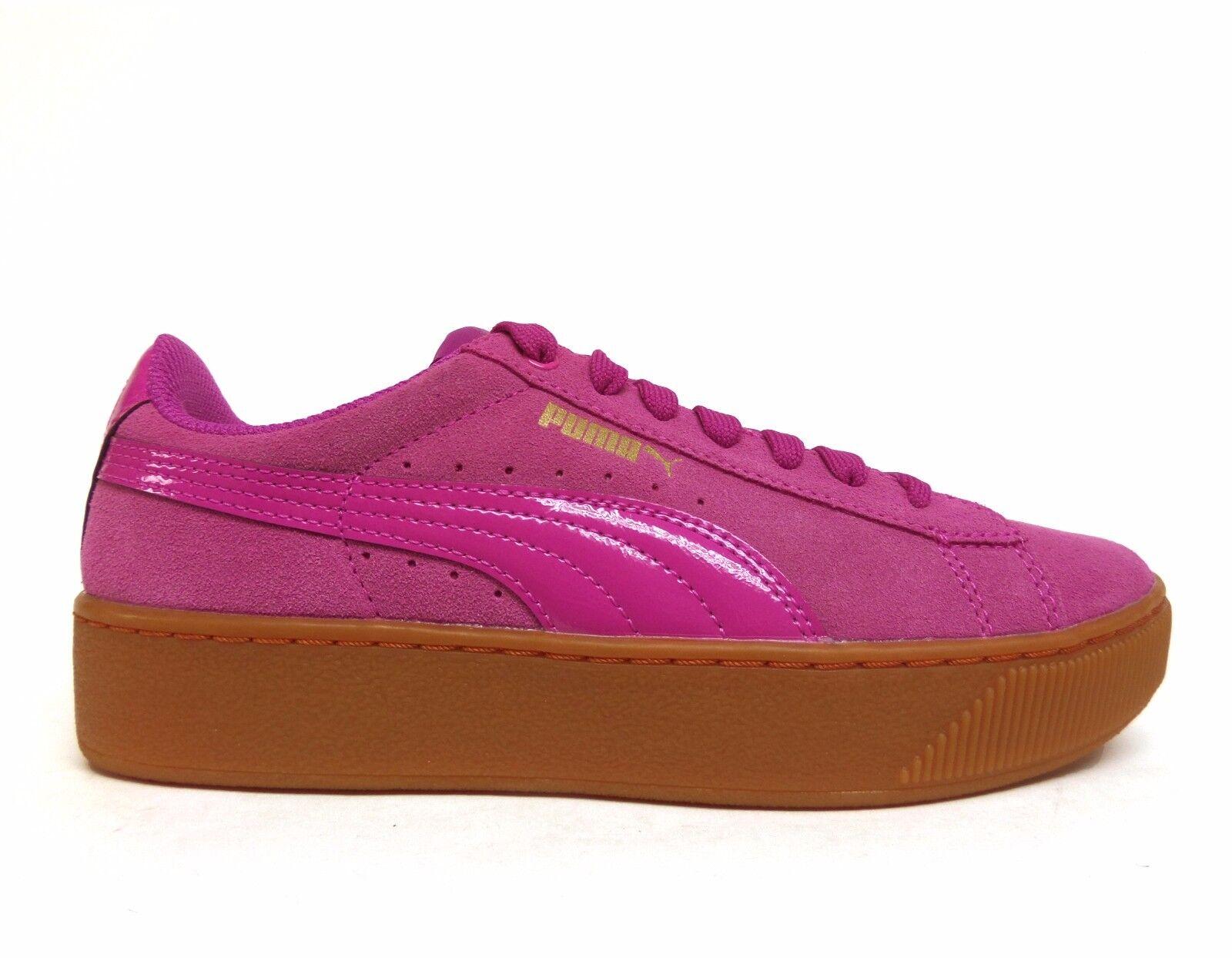 PUMA Women's VIKKY PLATFORM Suede shoes pink purple 363287-04 b